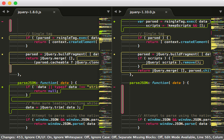 Sublimerge: The professional diff and merge tool for Sublime Text
